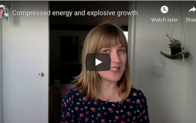 Compressed Energy and Explosive Growth