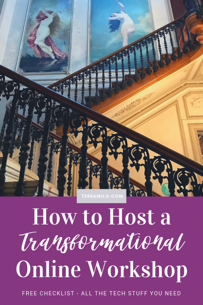 how to host a transformational online workshop