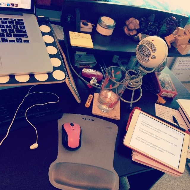 my desk after webinar