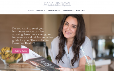 A fresh new website for Dana's relaunch